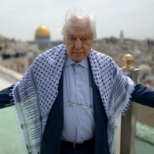Kudüs şairi Nuri Pakdil için Mescid-i Aksa'da gıyabi cenaze namazı kılındı