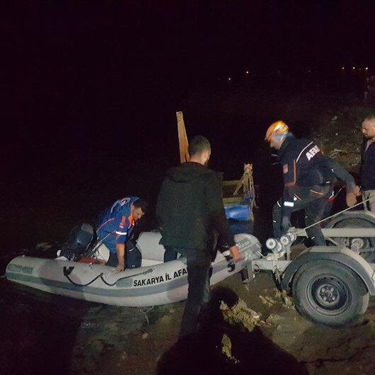 Sakarya Nehri'ne düşen 2 kişiden biri kayboldu diğeri hastaneye kaldırıldı