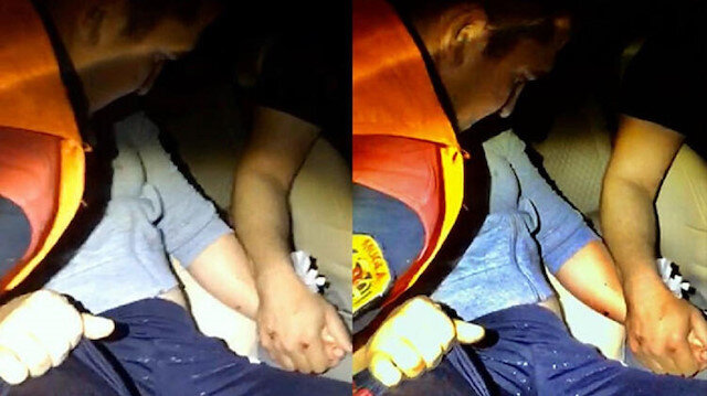 Kazada otomobilde sıkışan eşinin elini bir an bile bırakmadı