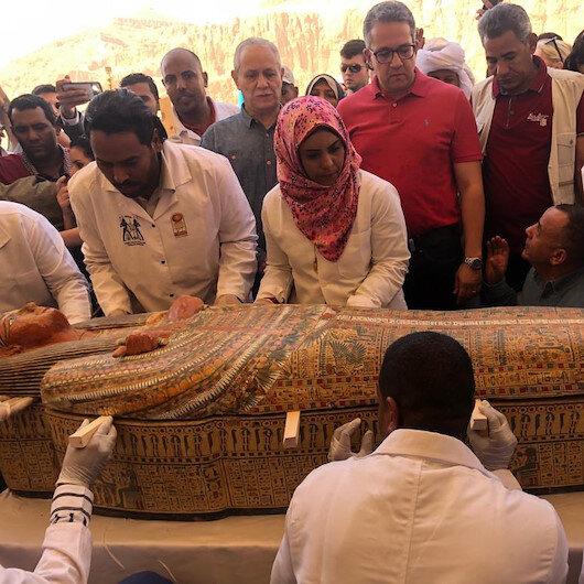 Firavun hanedanlığına ait 30 tabut: Mısır'daki Asasif gömütünde çok iyi korunmuş şekilde bulundu