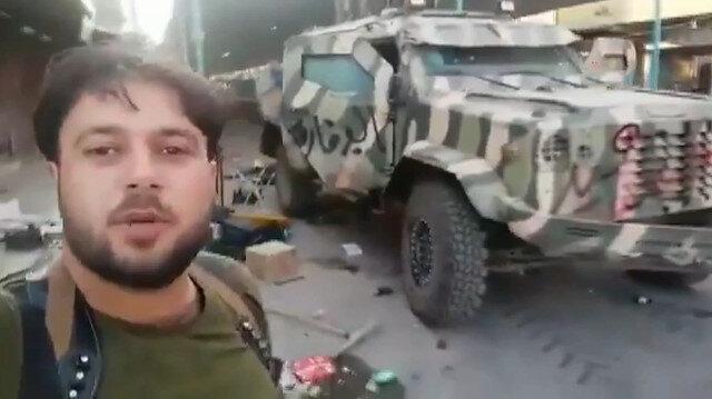 SMO teröristlere ait bir zırhlı aracı ele geçirdi