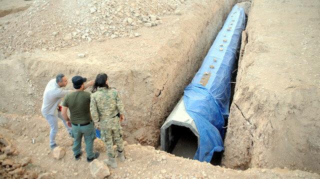 PKK/YPG'li teröristler Tel Abyad'ı köstebek yuvasına çevirmiş: Çok sayıda tünele ulaşıldı
