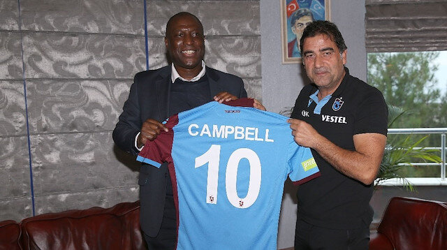 Kevin Campbell Trabzonspor'u ziyaret etti