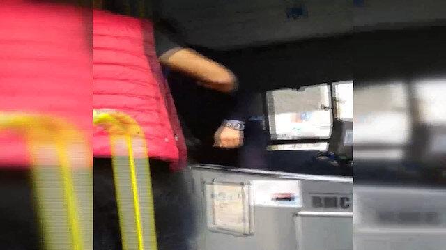 Halk otobüsü şoförü ve yolcu arasında tartışma