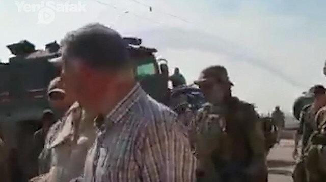 Rus askerleri Ayn El Arabda peçlerini sökmüş PYDli teröristler görüntülendi