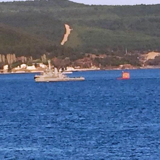 Çanakkale'de merak edilen cisim gemilerin atışlarda kullandığı hedef tahtası çıktı