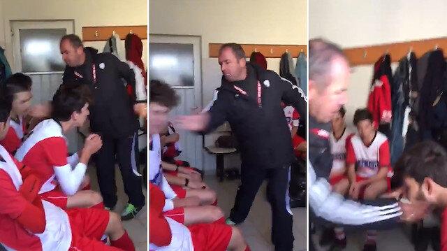 Amatör'de skandal görüntüler: Soyunma odasında futbolcuları dövdü