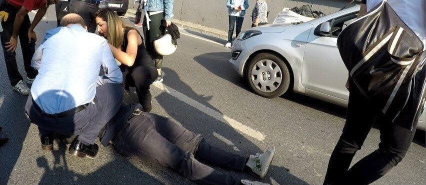 Trafik Denetleme Şube Müdürlüğü ekipleri kazayla ilgili inceleme başlattı.