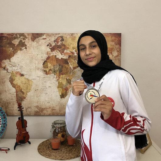 Turkish teenage athlete wins gold medal in Serbia