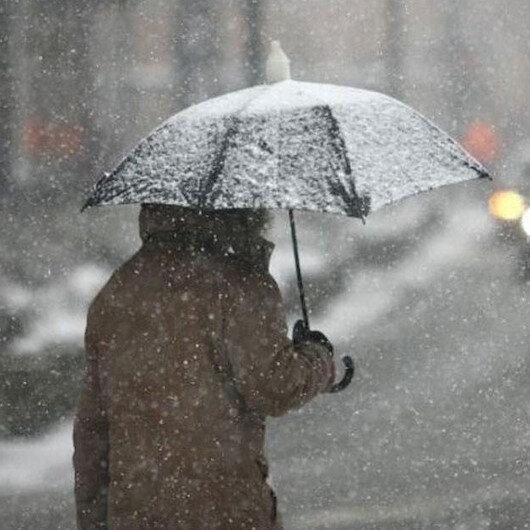 Meteoroloji'den 4 il için sağanak ve kar yağışı uyarısı