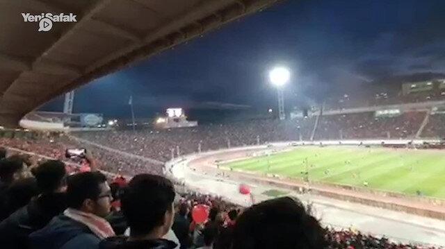 Tractor taraftarı İranı Türkiye sesleriyle inletti