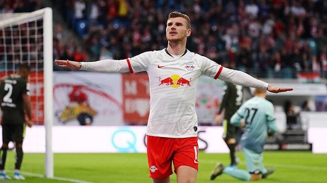 Leipzig'in Mainz'i 8-0 yendiği maçta Werner hat trick yaptı.