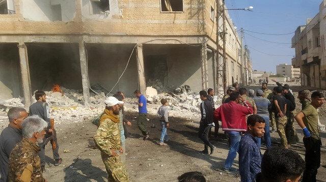 Tel Abyad'da bomba yüklü araçla terör saldırısı: 3 yaralı
