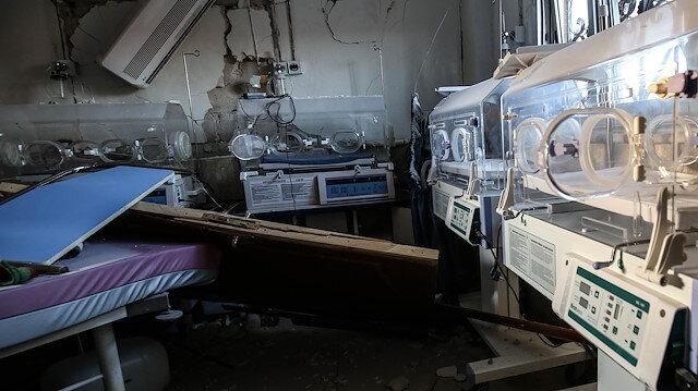 Rusya, İdlib'teki bir hastaneyi vurdu: Saldırıdan sonra kuvözde bebeklerin de bulunduğu hastanede yangın çıktı