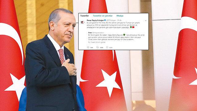 Cumhurbaşkanı Erdoğan çok beğendiği öneri için sözünü tuttu: 11 Kasım 'Milli Ağaçlandırma Günü' ilan edildi