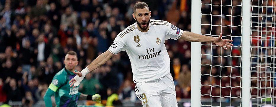 Karim Benzema'nın gol sevinci.