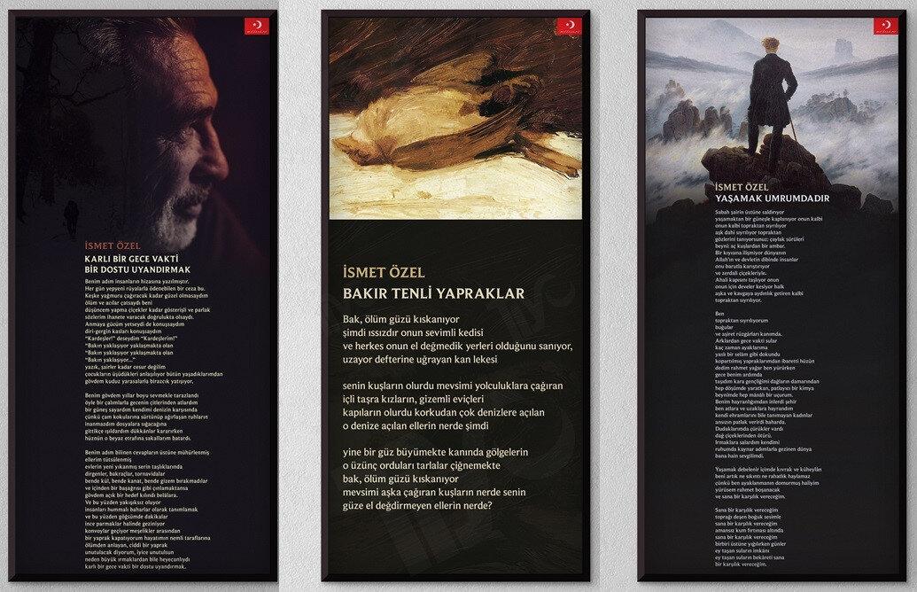 Poster haline getirilen şiirler
