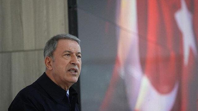 """وزير الدفاع التركي: """"ي ب ك"""" الإرهابي لم ينسحب من شمال شرقي سوريا"""