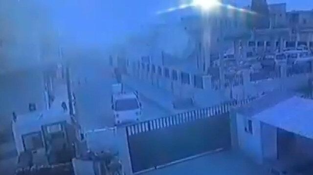 Teröristlerin Çobanbeye düzenlediği bombalı saldırı anı kamerada