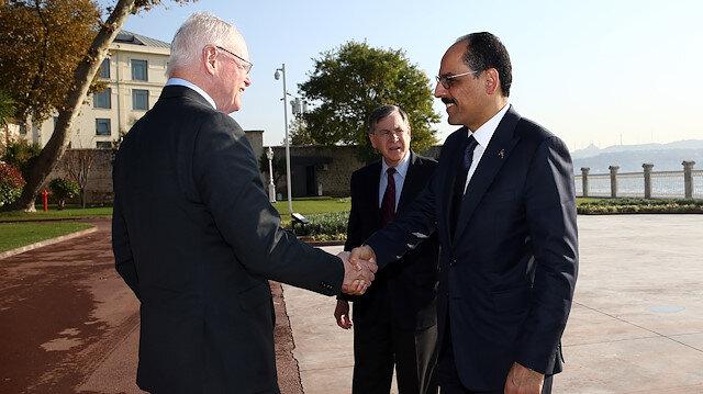 İbrahim Kalın, ABD'nin Suriye Özel Temsilcisi Jeffrey'i kabul etti