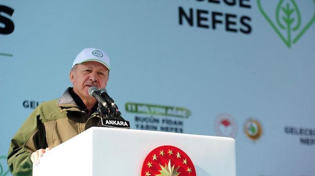Cumhurbaşkanı Erdoğan: Hedefimiz zümrüt yeşili bir Türkiye
