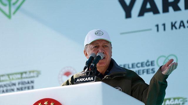 Cumhurbaşkanı Erdoğan'dan CHP'ye: Bunlar temel atma ve açılış töreni gibi işlere zaten yabancılar