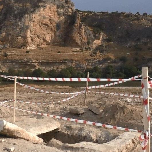 Fidan dikiminde oda şeklinde mezar ve 4 iskelet bulundu