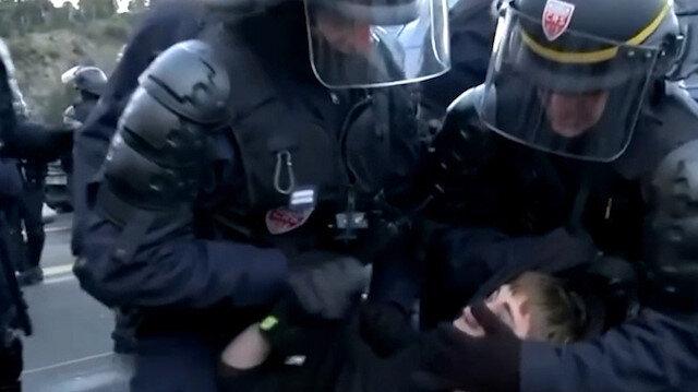 Fransız polisinden Katalon ayrılıkçılara sert müdahale