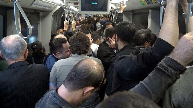 Metrobüste zorlu akşam yolculuğu: Sorun çözülemiyor