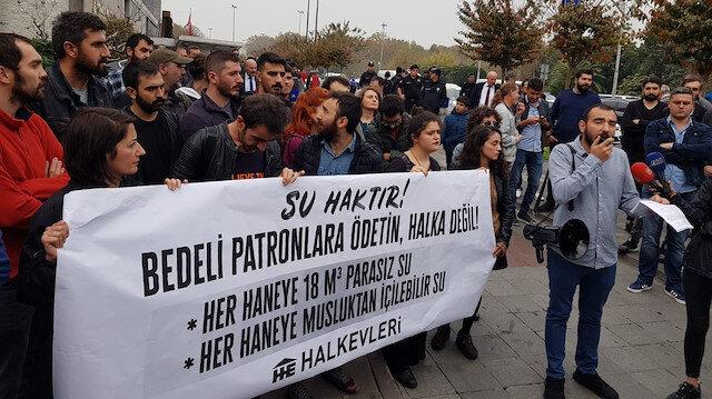İBB'nin su zammını Halkevleri bile protesto etti