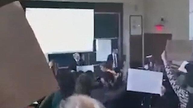 Harvard öğrencilerinden İsrail büyükelçisine protesto