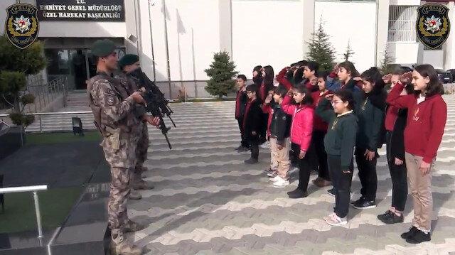 Barış Pınarı Harekatı'nda görevli kahramanlara öğrencilerden mektup