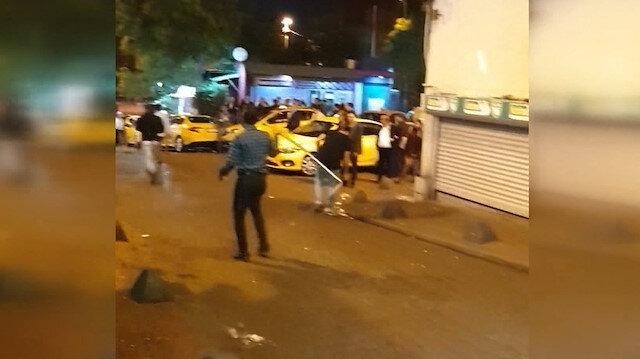 Taksim'de demirli sopalı kavga