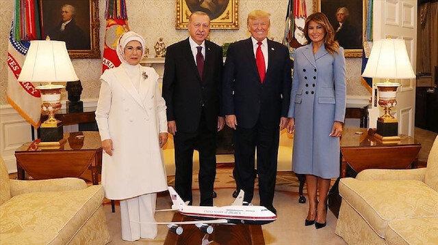 ترامب ينشر على حسابه بانستغرام الصورة العائلية التي جمعته بأردوغان