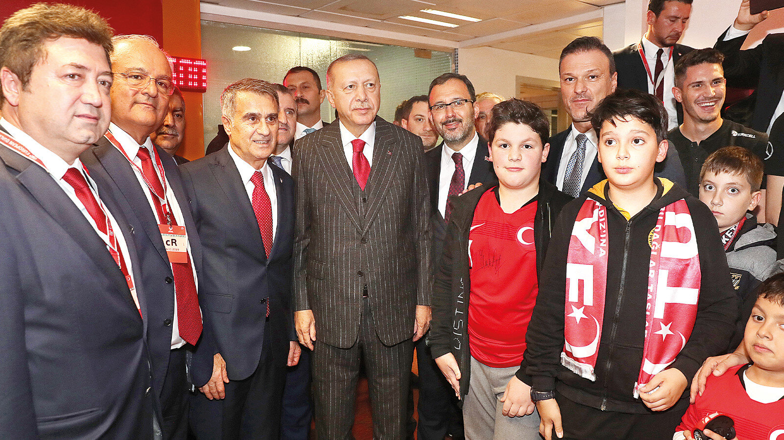 Cumhurbaşkanı Erdoğan soyunma odasında
