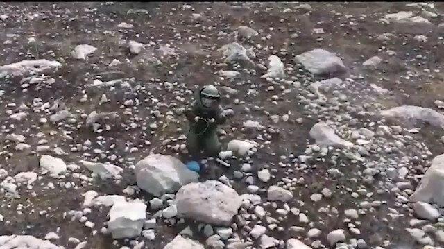 Jandarmadan kadın bomba  İmha uzmanı paylaşımı