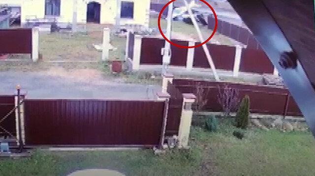 Rusya'da içinde 2 kişi bulunan küçük uçağın düşme anı kamerada