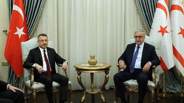 نائب أردوغان يلتقي رئيس شمال قبرص التركية