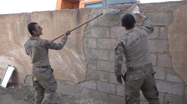 PKK'nın karargah olarak kullandığı okulu Mehmetçik onarıyor
