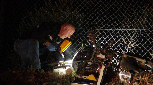 Kontrolden çıkıp demir çitlere çarptı: Motosikletin sürücüsü olay yerinde hayatını kaybetti