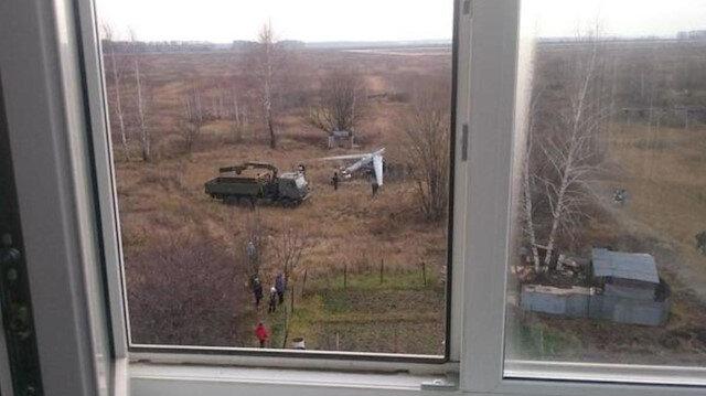 Evin yanına Rus ordusuna ait 'Orion-E' tipi İHA düştü