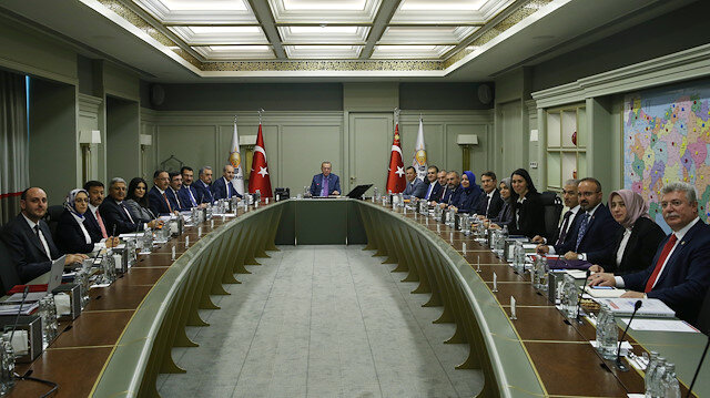 AK Parti Merkez Yürütme Kurulu (MYK) Cumhurbaşkanı Erdoğan'ın başkanlığında toplandı