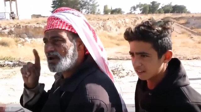 Barış Pınarı Harekatı bölgesindeki Tel Abyadlılardan Mehmetçiğe teşekkür