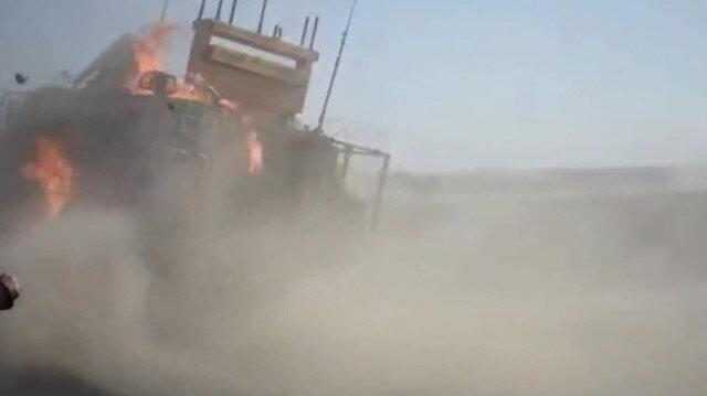 Ayn El Arab'da atılan ortak devriyeye PKK yandaşlarından molotoflu saldırı