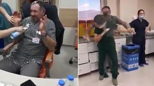 Devlet hastanesinin acil servisinde birbirlerine köpük sıkarak eğlenen hastane çalışanlarına soruşturma