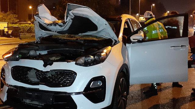 İstanbul'da feci kaza: Yaya 50 metre savrulurken, şoför olay yerinden kaçtı