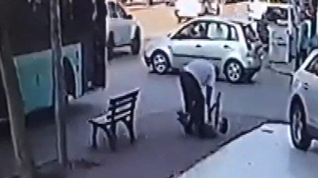 Antalya'da patenci gence, otobüs şoföründen tokatlı dayak