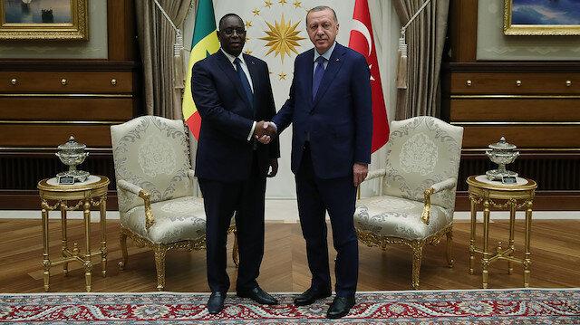 Cumhurbaşkanı Erdoğan Senegalli mevkidaşıyla görüştü