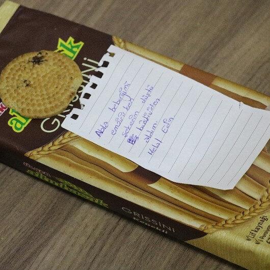 Yediği bisküviden sonra bıraktığı not herkesi şaşırttı