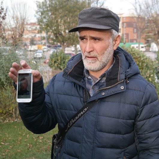 Rus baba elinde sözlük ile oğlunu arıyor
